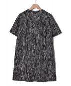 marimekko(マリメッコ)の古着「ブラウスワンピース / TRISTA」 ブラック