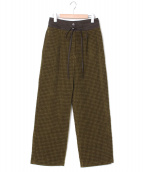 pelleq(ペレック)の古着「front flap pile trousers」|オリーブ