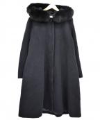 ef-de(エフデ)の古着「ファーフーデッドコート」|ネイビー
