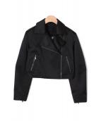 FOXEY(フォクシー)の古着「ライダースジャケット」|ブラック