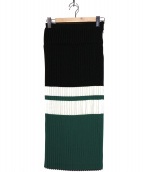 CLEANA(クリーナ)の古着「プリーツスカート」|グリーン