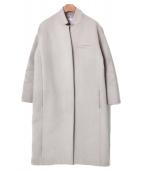 LE CIEL BLEU(ルシェルブルー)の古着「ソフトメルトンチェスターバルーンコート」|アイボリー