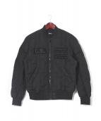 DIESEL(ディーゼル)の古着「ボンバーダウンジャケット」|ブラック