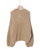 CASA FLINE(カーサフライン)の古着「手編みモヘアニット」|ベージュ
