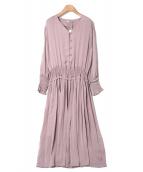 Emma Taylor(エマテイラー)の古着「シャーリングドレス」|ピンク