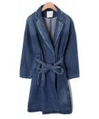 CLANE(クラネ)の古着「テントラインデニムコート」 ブルー