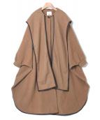 CLANE(クラネ)の古着「ショールフードバルーンコート」|キャメル