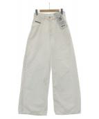 DIESEL(ディーゼル)の古着「ワイドデニムパンツ」|ホワイト