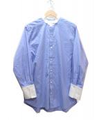 loin(ロイン)の古着「ウィングカラーシャツ」|ブルー