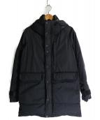 THE NORTH FACE PURPLE LABEL(ザノースフェイス パープルレーベル)の古着「フードロングセローダウンコート」|ブラック