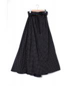 GRAMICCI×k3&co.(グラミチ×ケイスリーアンドコー)の古着「ドットイージーフレアスカート」|ネイビー