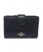 COACH(コーチ)の古着「2つ折り財布」|ネイビー