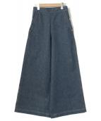 Drawer(ドゥロワー)の古着「ワイドデニムパンツ」|ブルー