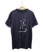 LANVIN(ランバン)の古着「ロゴTシャツ」 ネイビー