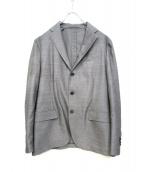 LARDINI(ラルディーニ)の古着「アンコンテーラードジャケット」|グレー