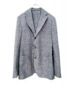 LARDINI(ラルディーニ)の古着「リネン混ホップサックジャケット」 グレー
