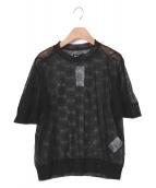 MIYAO(ミヤオ)の古着「チュール刺繍ブラウス」|ブラック