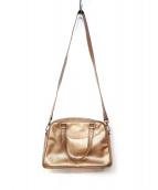 JACQUES LE CORRE(ジャックルコー)の古着「エナメルハンドバッグ」|ゴールド