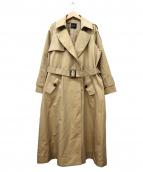ROSSO(ロッソ)の古着「ロングトレンチコート」|ベージュ