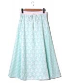GRACE CLASS GRACE CONTINENTAL(グレースクラス グレースコンチネンタル)の古着「モノグラムジャージスカート」|ミント