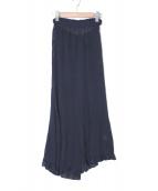 AKANE UTSUNOMIYA(アカネ ウツノミヤ)の古着「ギャザースカート」|ネイビー
