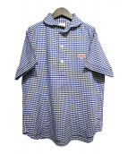 DANTON(ダントン)の古着「プルオーバーシャツ」 ブルー×ホワイト