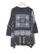 KAPITAL(キャピタル)の古着「天竺バンダナリメイクビッグTシャツ」|ブラック