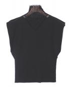 ISSEY MIYAKE(イッセイミヤケ)の古着「ハイネックカットソー」|ブラック