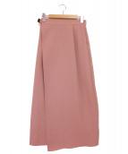 STUDIOUS(ステュディオス)の古着「ベルト付きラップロングスカート」|ピンク