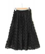 JILL STUART(ジルスチュアート)の古着「マチルダフレアスカート」|ブラック