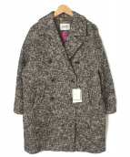 ROPE mademoiselle(ロペマドモアゼル)の古着「カラーネップコクーンコート」|ブラック