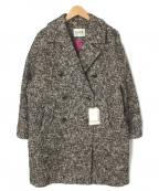 ROPE mademoiselle(ロペマドモアゼル)の古着「カラーネップコクーンコート」 ブラック