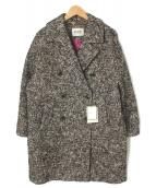 ROPE mademoiselle(ロペ マドモアゼル)の古着「カラーネップコクーンコート」 ブラック