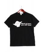COMME des GARCONS SHIRT(コムデギャルソンシャツ)の古着「スターウォーズコラボTシャツ」|ブラック