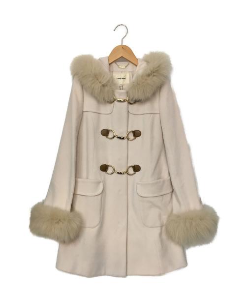 LAISSE PASSE(レッセパッセ)LAISSE PASSE (レッセパッセ) ファー付ミドルダッフルコート サイズ:SIZE 38の古着・服飾アイテム