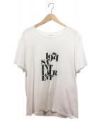 Saint Laurent Paris(サンローランパリ)の古着「18AW/クラシックロゴTシャツ」|ホワイト