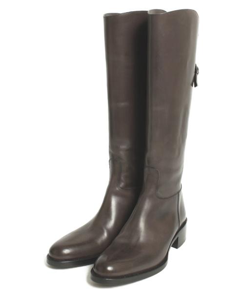 SARTORE(サルトル)SARTORE (サルトル) ジョッキーブーツ ダークブラウン サイズ:34 1/2の古着・服飾アイテム