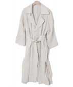 ROPE mademoiselle(ロペ マドモアゼル)の古着「リネントレンチコート」|ベージュ