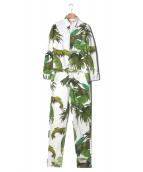 OFFWHITE(オフホワイト)の古着「ホワイトデニムジャンプスーツ」|ホワイト×グリーン