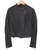 Raw+(ロゥタス)の古着「レザーライダースジャケット」|ブラック