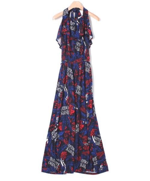 Hysteric Glamour(ヒステリックグラマ)Hysteric Glamour (ヒステリックグラマ) 総柄オールインワン ネイビー サイズ:FREEの古着・服飾アイテム