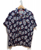 MENS BIGI(メンズビギ)の古着「ヴィンテージフラワープリントシャツ」|ネイビー