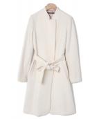 VIVIENNE TAM(ヴィヴィアンタム)の古着「スタンドカラーコート」|ホワイト