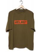 HELMUT LANG(ヘルムートラング)の古着「18aw ロゴプリントTシャツ」 オリーブ