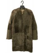 CELINE(セリーヌ)の古着「リバーシブルムートンコート」|ブラウン