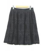 COTOO(コトゥー)の古着「カットワーク刺繍スカート」|ブラック