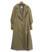 Ameri VINTAGE(アメリビンテージ)の古着「バックフリルコート」|ベージュ