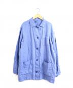 FRAMeWORK(フレームワーク)の古着「リネン製品染カバーオール」 ブルー