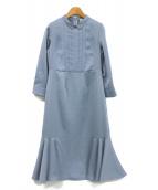 CELFORD(セルフォード)の古着「裾フレアヘムワンピース」|サックスブルー