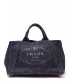 PRADA(プラダ)の古着「デニムトートバッグ」 ブラック